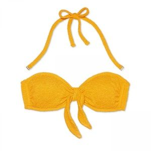 NWT Xhilaration Bandeau Bikini Top Medium Yellow